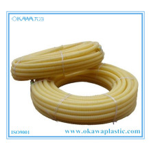 Yellow PVC Corrugated Hose by Flame Retardant