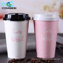 Biodegradable reusable colorful factory logo custom printed pla customised paper cups