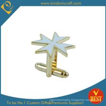 Personalized Star Shape Metal Cufflink for Sale
