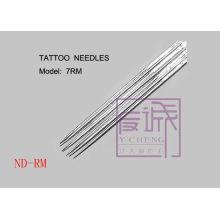 50 Pack Pre-hechos de agujas de tatuaje estéril en la barra / agujas de tatuaje curva