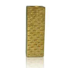 Chandelier en céramique de placage d'or de rectangle de 8,66 pouces