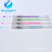 Melhor venda Multicolor branco caneta no baixo preço, caneta Gel para material escolar