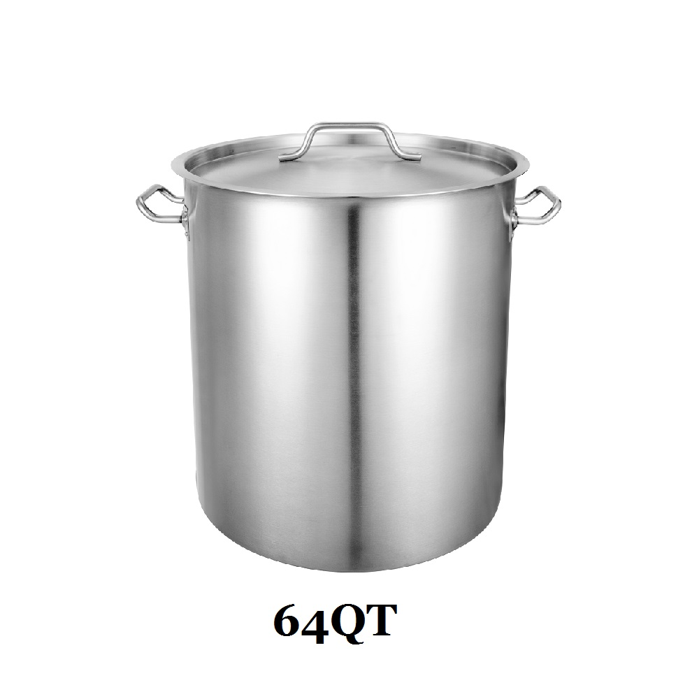 64qt 3 Ply Clad Base Induction Ready Stockpot