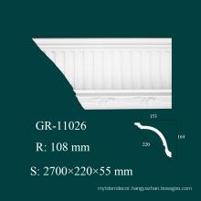 Home Design Fireproof PU Decorative Crown Molding