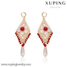 29369- Xuping Fashion Chandelier Jewelry Beaded Earrings With Flower