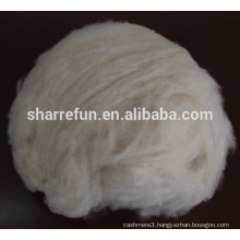 100%wool material pure dehaired cashmere fiber light grey 16.5mic 34-36mm