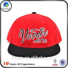 Vermelho acrílico snap back cap hip hop venda chapéus