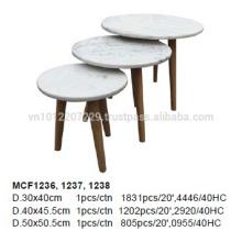 Muebles de mármol de granito - mesa de café 3x