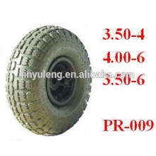 rueda de goma 8,10, 12, 13,14, 15,16,18 pulgadas para carretilla