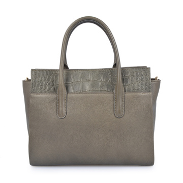 Soft Grain Crocodile Embossed Leder Aktentasche Damen Tasche