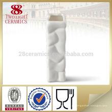 porcelana chinesa pequena quadrada antiga vaso de flor de cerâmica