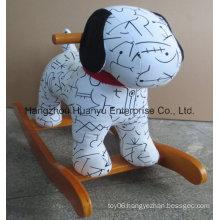 New Design Stuffed Rocking Animal-Spotty Dog Rocker