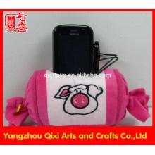 Оптовая продажа горячая распродажа конфеты формы плюшевые держатель мобильного телефона