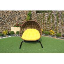 Chaise élégante en polyéthylène en polyéthylène ou hamac pour meubles en osier pour jardin extérieur