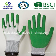Foam Latex Coated Gardening Work Gloves Safety Gloves