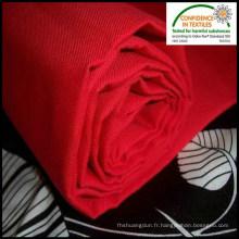 Travail rouge porter tissu sergé Polyester coton