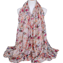 2017 new arrival fashion women muslim head scarf various color printed wholesale hijab malaysia