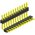 2.00mm Pitch Single Row Double Plastic Angle Type