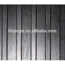Black Wide Ribbed Anti-slip Rubber Floor