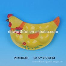 Placa de suporte de ovo de galinha cerâmica