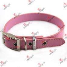 Мода розовый PU кожаный ошейник для домашних животных ювелирные изделия (PC15121401)