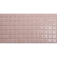 for Swimming Pool Decorative Hot Melting Glass Pink Mosaic Tile