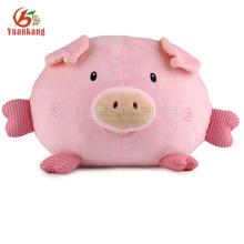 Fabricante de China felpa linda chirriante relleno cerdo rosa suave juguete