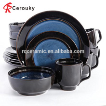 Ручная роспись черного и синего керамического нового костяного фарфора