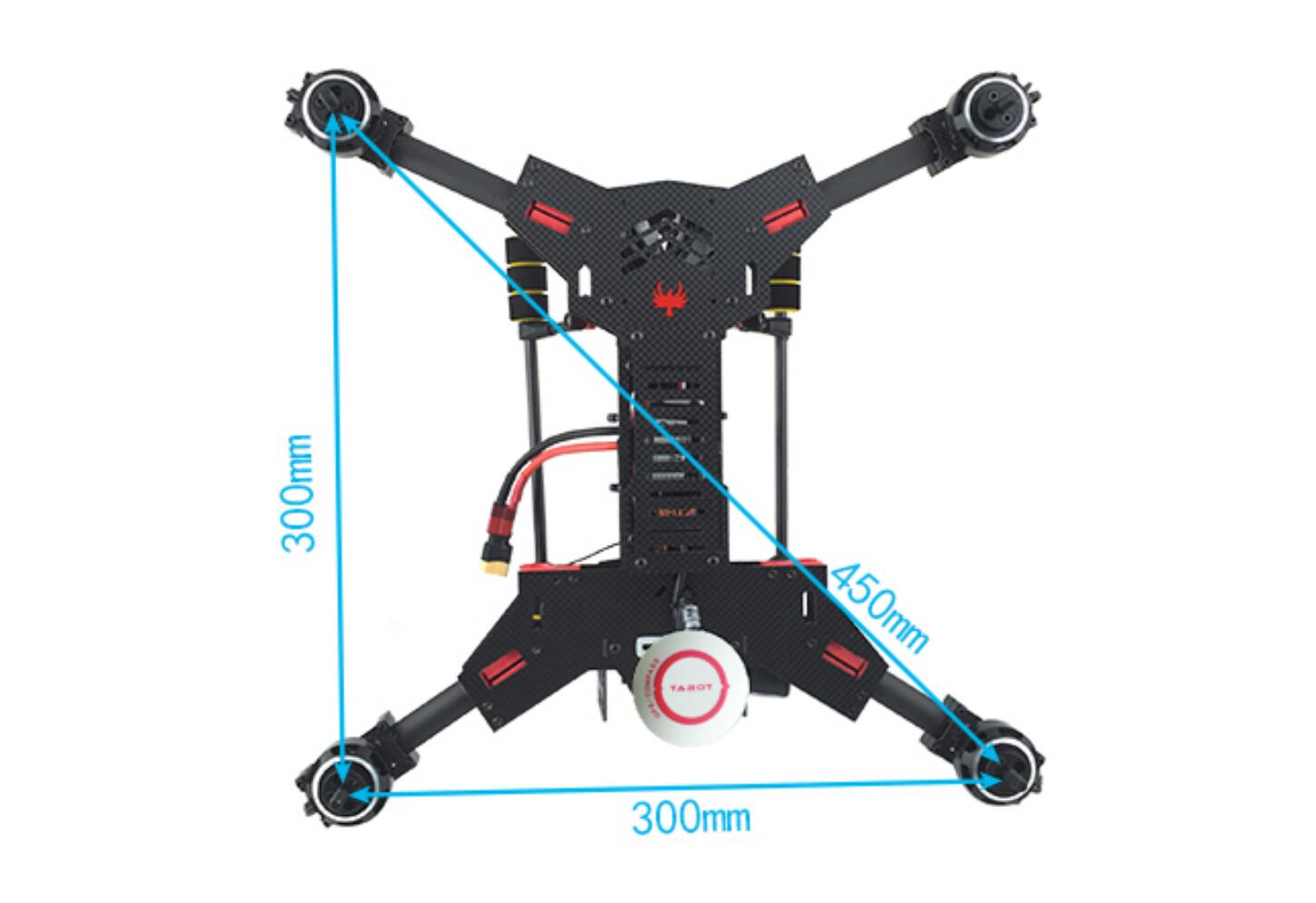 450mm Quad Carbon Fiber Drone Frame Kit ,H4-Horizontal Folding FPV Racing UAV Frame,H450 Drone Frame Kit with Landing Gear,Multi-rotor UAV Frame Carbon Fiber Quadcopter Frame kit,UAV frame kit,JMRRC drone