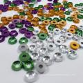 Rondelle élastique en aluminium à fixations plates