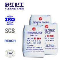 Superior a longo prazo Weatherability Rutilo dióxido de titânio especial para PVC-U