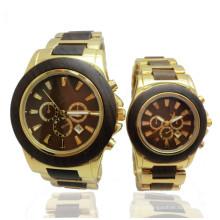 Hlw044 OEM montre en bois de montre en bambou de montre en bois des hommes et des femmes