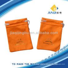 Рекламный пакет из микроволокна с золотым тиснением ЛОГОТИП