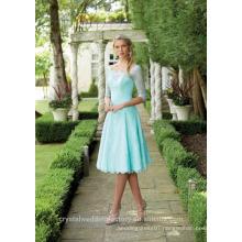 Wholesale Good Quality Simple Long Sleeve Short A Line Bridesmaid Dresses LBS11