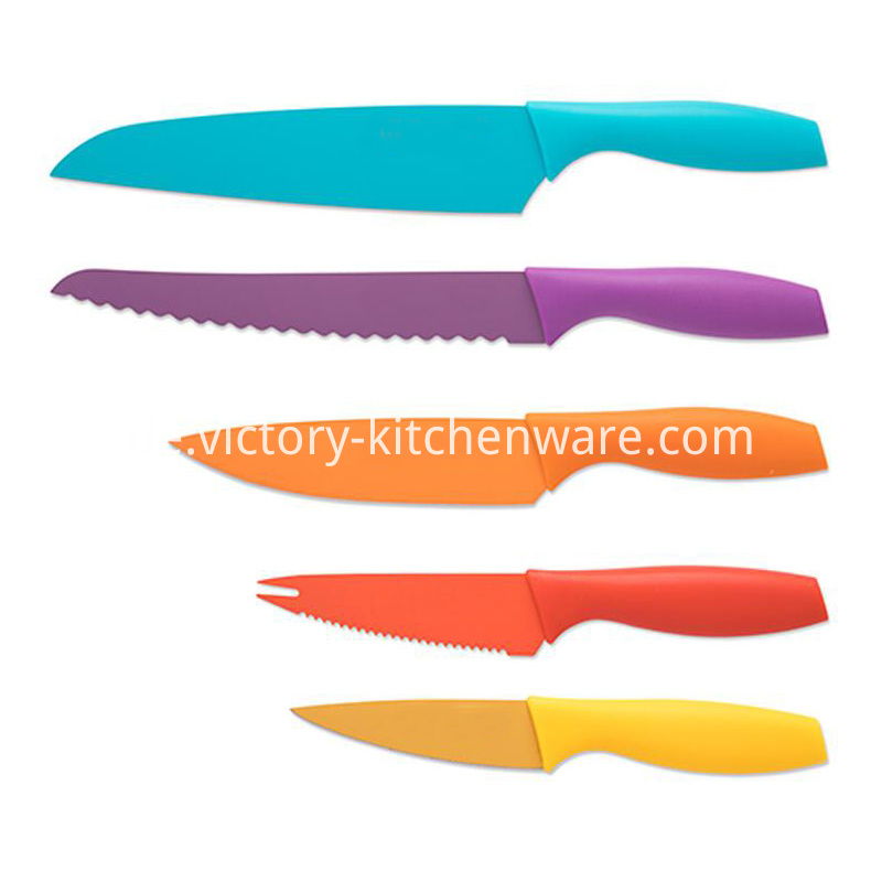 stainless steel knife with coating