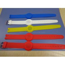 Pulseira RFID de borracha de silicone para academias ecológicas