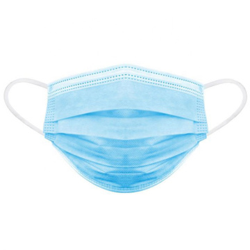 Одноразовая 3-х слойная нетканая медицинская маска