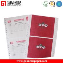 Papier d'ordinateur continu multi-couches à haute qualité pour l'utilisation du bureau