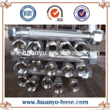 Hitzebeständige Materialien Edelstahl Geflochtener Schlauch Flexibler Metallschlauch / Rohr