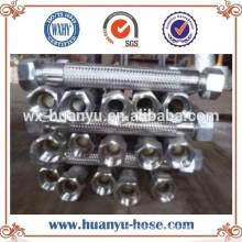 Materiais resistentes ao calor Mangueira trançada de aço inoxidável Mangueira / tubo de metal flexível