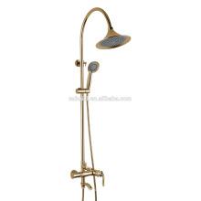 КТ-06J новое прибытие ванная комната фитинг с одной ручкой латунь смеситель керамический кран настенный ванна и душ установить дождь душ