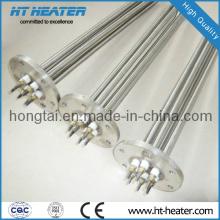 Погружной нагреватель с плоским фланцем для высоких температур