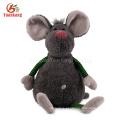 Animal de pelúcia cinza cobaia brinquedo de pelúcia bonito cinza de pelúcia rato brinquedos com olhos grandes