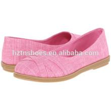 2016 Новая модель Женская резиновая подошва Холст обувь
