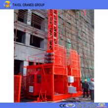 Elevador de construcción galvanizado de doble jaula Sc200 / 200