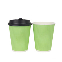 Food grade thick single wall kraft paper cup for hot and cold drink ripple wall cup