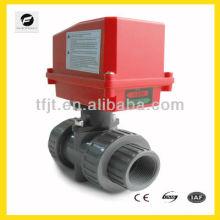 Electric 2 way UPVC ball valve forSolar thermal,under-floor,rain water,irrigation,plumbing service,hot water heating