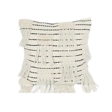 decorative pillows with tassel fringe