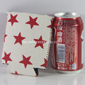 Venta caliente Neoprene Star Logo Beer Cooler DIY