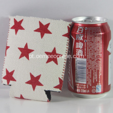 Venda quente Neoprene Star Logo Beer Cooler DIY